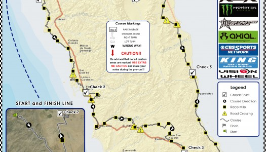 2015 Baja 1000 Preliminary Race Course Map