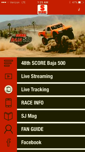 Click the Photo and Get Your Free SCORE Racing App. Available in Apple and Android versions currently.