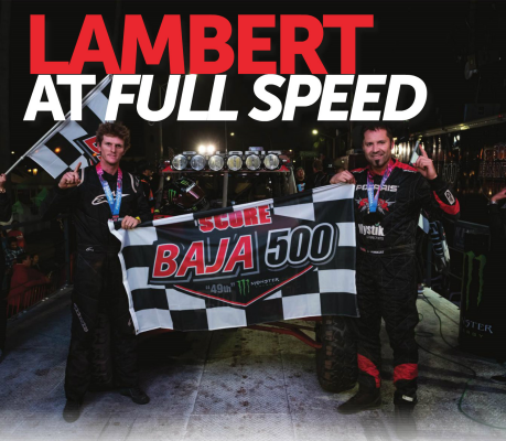 Justin Lambert wins the Baja 500 UTV Racing Class and discusses the faster speeds of UTVs in BAJA