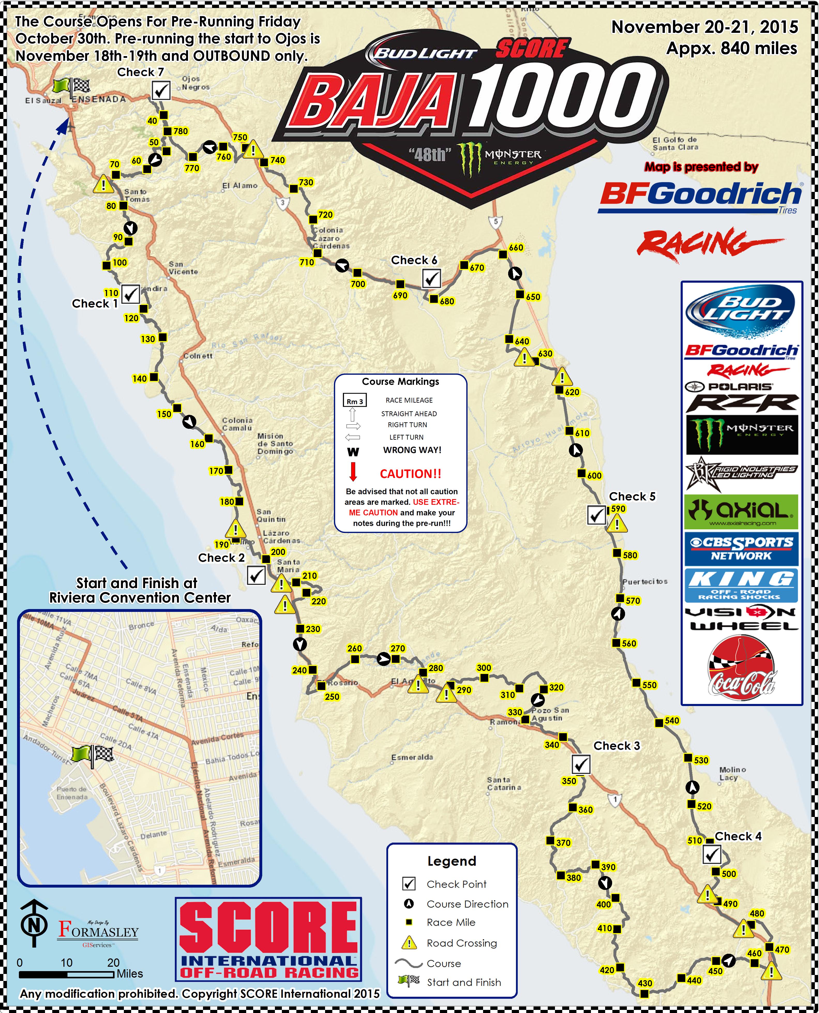Baja 1000 Map Baja 1000 Course Map | SCORE International.com